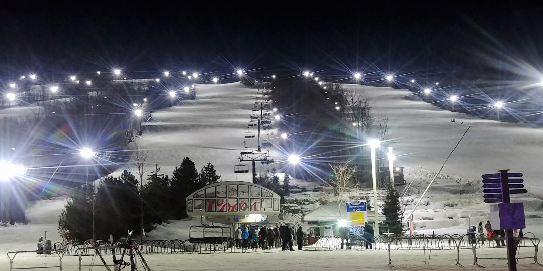 Night skiing/riding at Blue Mountain