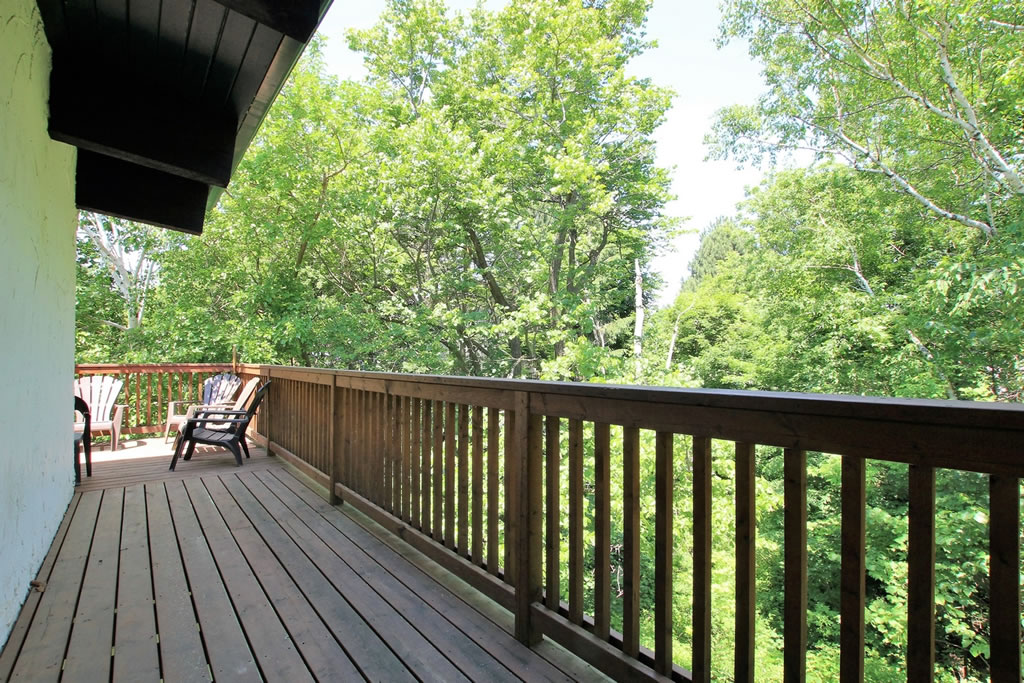 blue mountain chalet rental deck