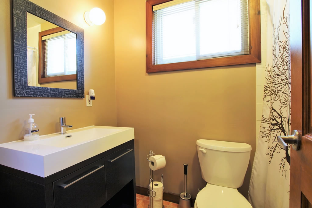 blue mountain chalet rental bathroom